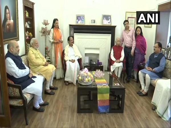 PM Modi, Home Minister Shah, Vice President Naidu and BJP working President Nadda met Lal Krishna Advani in New Delhi on Friday