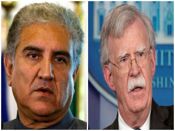 Pakistan Foreign Minister Shah Mahmood Qureshi and US National Security Advisor John Bolton
