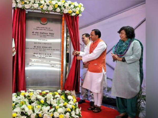 HRD minister Ramesh Pokhriyal on Friday laid the foundation stone for the new integrated campus of CBSE at Dwarka, Delhi (Photo credit: Ramesh Pokhriyal Twitter)