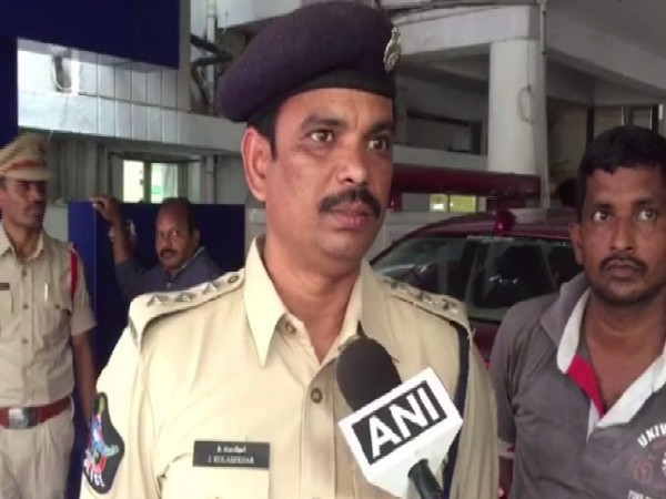 A police official speaking to ANI about fire in offshore support vessel Coastal Jaguar in Vizag, Andhra Pradesh on Aug 12. Photo/ANI