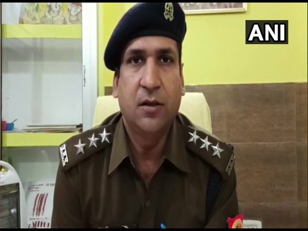 Tejveer Singh, Deputy Superintendent of Police Garhmukteshwa speaking to media on Friday. (Photo/ANI)