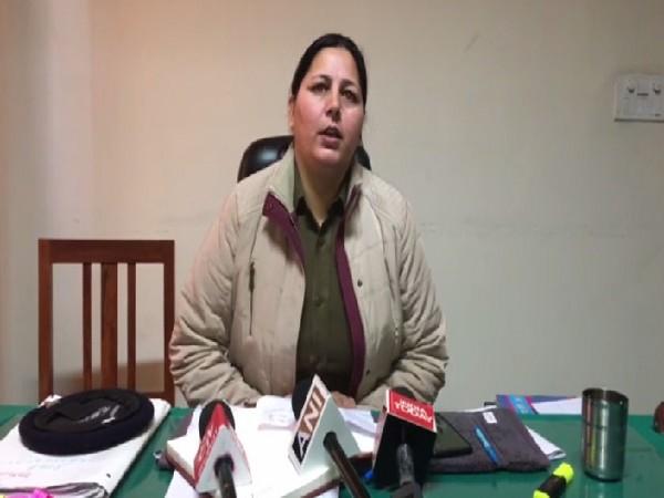 SHO Sunita Daka speaking to media in Ambala, Haryana on Monday.