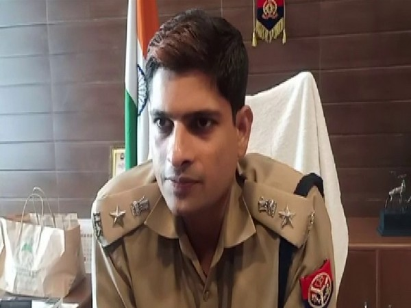 Hapur Superintendent of Police Yashveer Singh talking to ANI on Friday. Photo/ANI