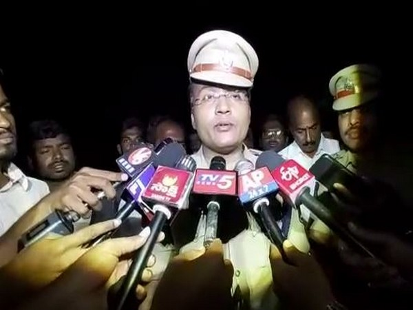 Cyberabad police speaking to media persons on Friday. (Photo/ANI)