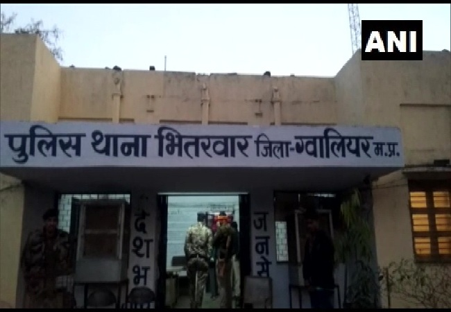 A visual of police station near which the incident took place in Gwalior on Sunday.