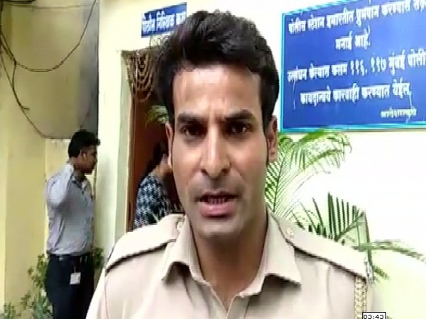 Duty Officer Virendra Choudhary at Kanhan Police station speaking to ANI in Nagpur, Maharashtra on July 18. Photo/ANI