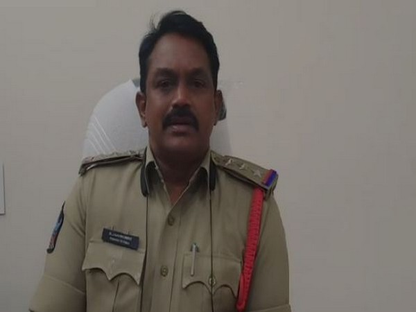Nandigama Sub Inspector K J Naidu while speaking to media persons in Andhra Pradesh. (Photo/ANI)