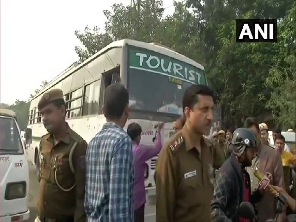 JNU students going for a demonstration to the Delhi Police headquarters were taken to Vasant Kunj police station on Wednesday.