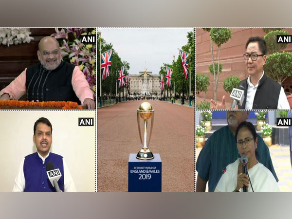 Amit Shah, Kiren Rijiju, Devendra Fadnavis and Mamata Banerjee hailed team India's World Cup Victory in its first match