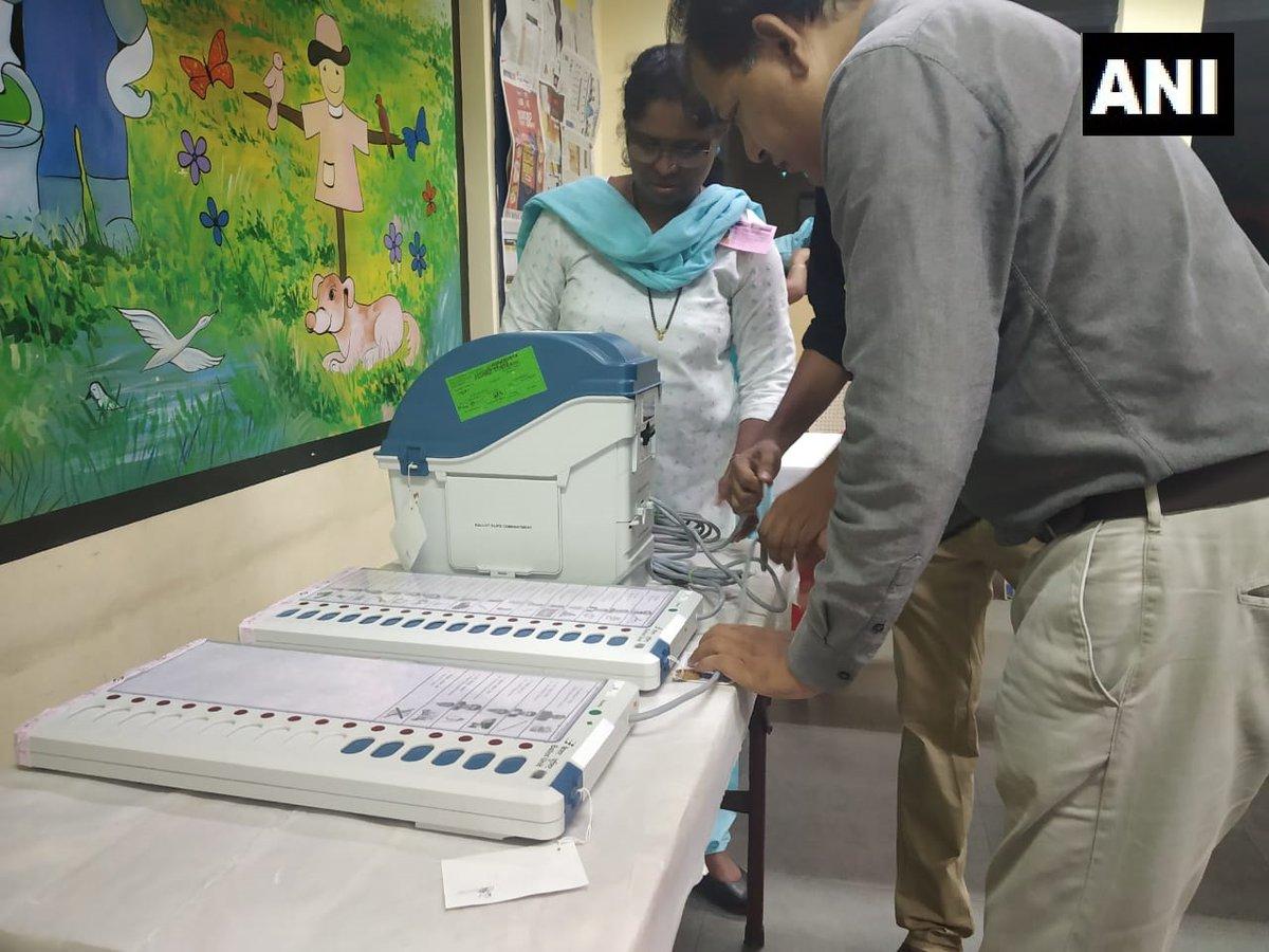 Voting underway in 71 Lok Sabha constituencies. Photo/ANI