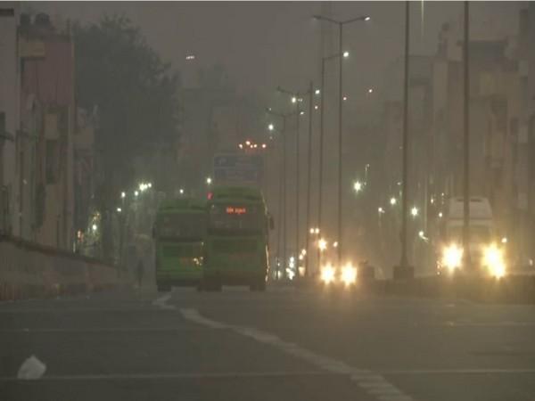 Dense smog envelops Delhi on Sunday.