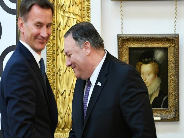 US Secretary of State Michael R Pompeo meets British Foreign Minister Jeremy Hunt in London on Wednesday