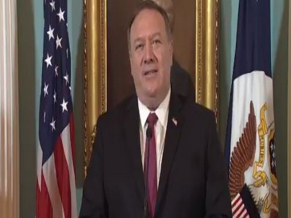 US Secretary of State Michael Pompeo speaking on the Trafficking in Persons Report in Washington DC on Thursday (local time)
