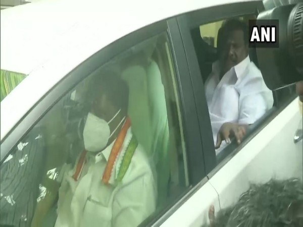 Puducherry CM V. Narayanasamy left for the Legislative Assembly from his residence Puducherry assembly to hold floor test on Monday.