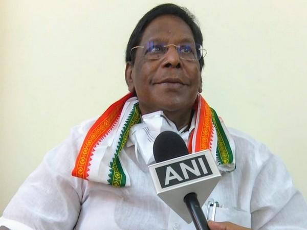 Puducherry Chief Minister V Narayanasamy. Photo/ANI