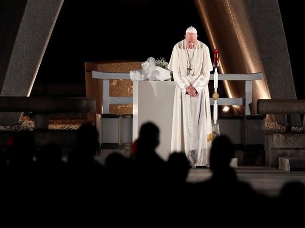 Pope Francis at Peace Memorial Park in Hiroshima, Japan