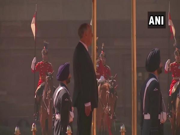 Portuguese President Marcelo Rebelo De Sousa was accorded a ceremonial reception at the Rashtrapati Bhavan in New Delhi on Friday (photo/ANI)