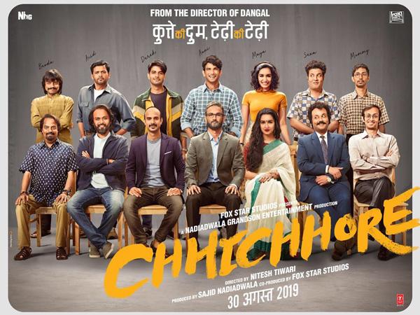 Poster of 'Chhichhore'  (Image courtesy: Instagram)