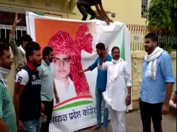Visual from Rajasthan Congress office in Jaipur.