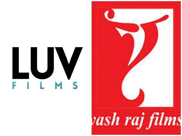 Logo of Production houses Luv Films and Yash Raj Films.