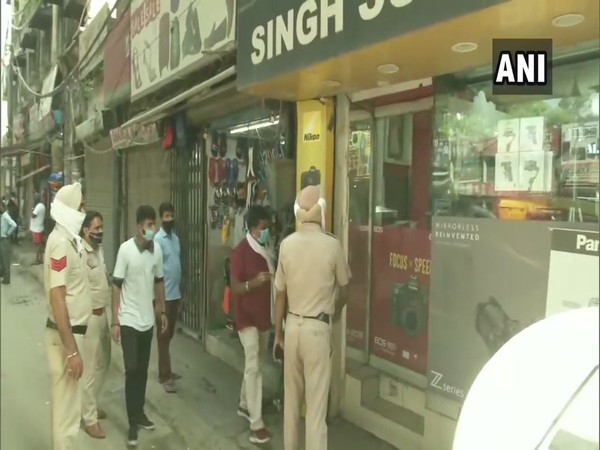 The decision to open 50 per cent shops was taken due to rise in COVID-19 cases in Punjab. (Photo: ANI)