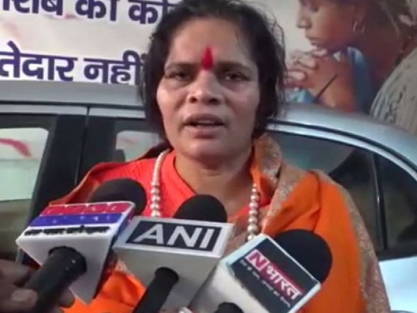 VHP leader Sadhvi Prachi talking to media persons in Meerut on Sunday.