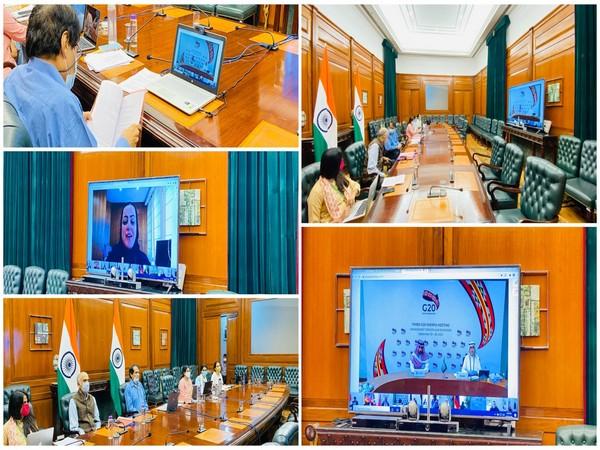 BJP MP Suresh Prabhu taking part in Third G20 Sherpas' Virtual Meeting on Tuesday.
