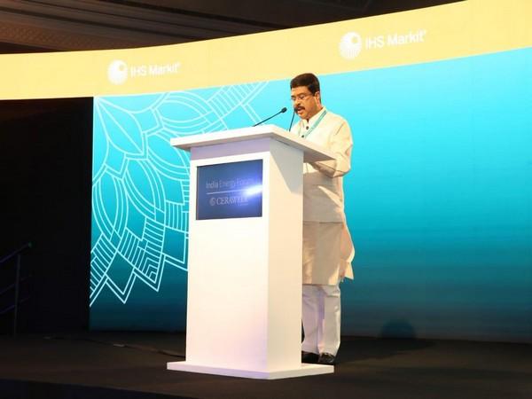 Union Minister Dharmendra Pradhan at India Energy Forum in New Delhi . Photo/ANI
