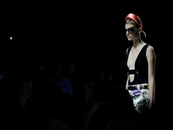 The padded headband at the Prada show at Milan Fashion Week Spring 2019 in Italy on September 20, 2018 (Photo/Reuters)