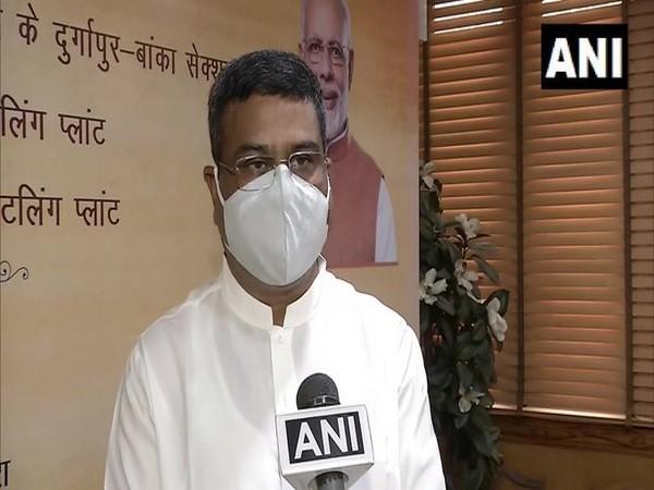 Union Petroleum Minister Dharmendra Pradhan speaking to ANI in New Delhi on Sunday.