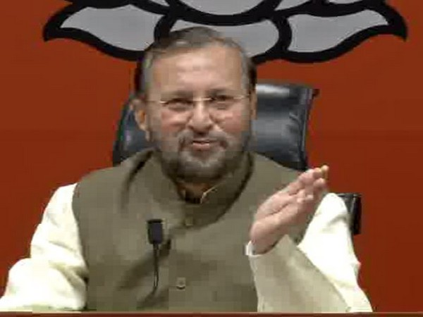 Union Minister Prakash Javadekar during a press conference in New Delhi on Sunday. Photo/ANI
