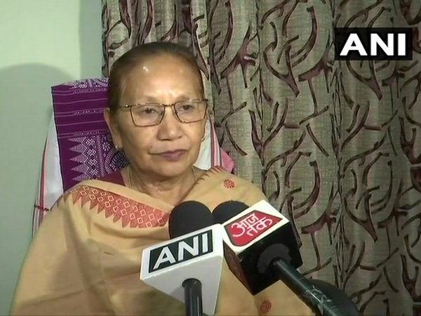 BPF MLA Pramila Rani Brahma speaking to reporters in Assam on Wednesday. Photo/ANI