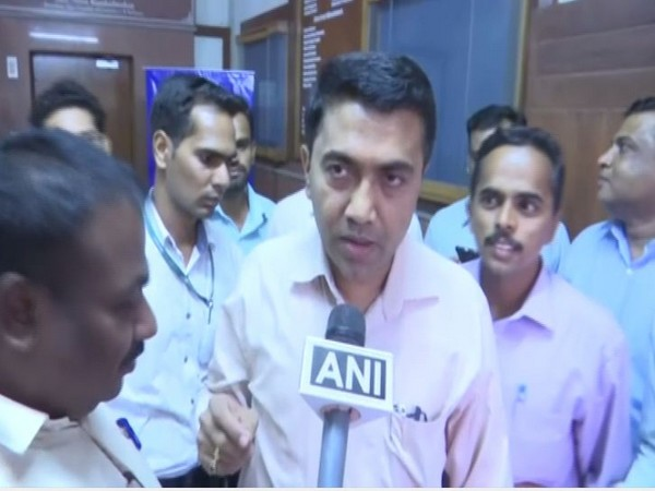 Goa Chief Minister Pramod Sawant speaking to ANI on Saturday.