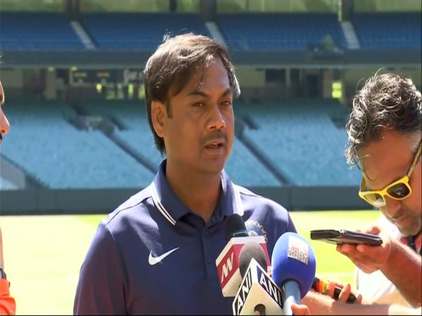 Indian Cricket Selection Committee chairman MSK Prasad talking to media persons.