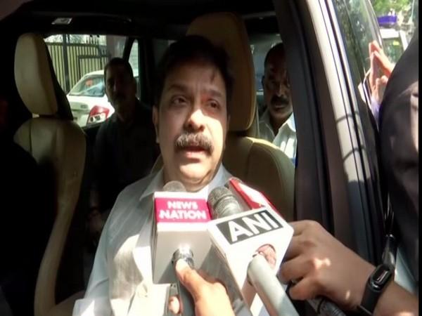 BJP leader Prasad Lal speaking to reporters in Mumbai on Monday. Photo/ANI