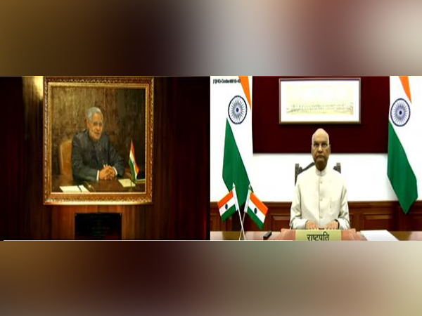President Ram Nath Kovind on Sunday unveiled a portrait of former Prime Minister Atal Bihari Vajpayee at ICCR headquarters in New Delhi through video conferencing.