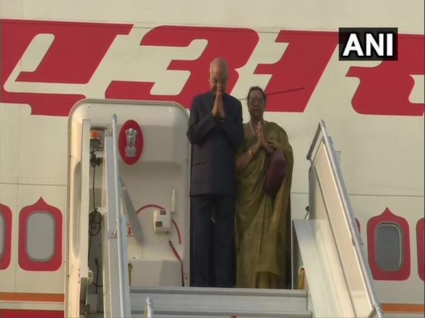 President Ram Nath Kovind and his wife  Savita Kovind embarked on a 7-day visit to the Philippines and Japan on Thursday.