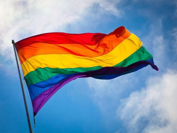 The rainbow colour Pride flag
