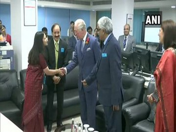 Prince Charles visits India Meteorological Department in New Delhi on Wednesday