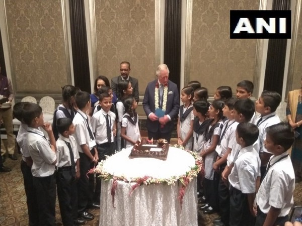 Prince Charles celebrates 71st birthday with school children in Mumbai on Thursday