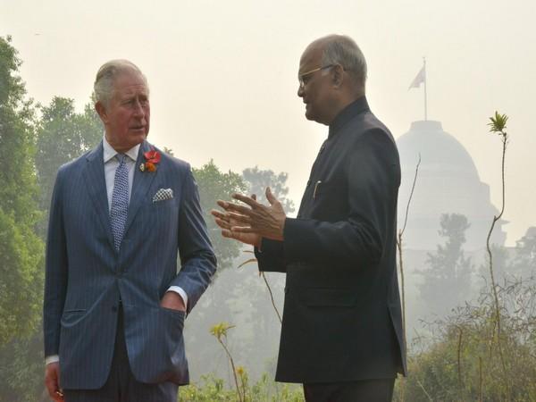 Prince Charles with President Ram Nath Kovind (photo courtesy: President of India Twitter handle)