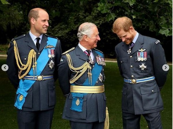 Prince William, Prince Charles and Prince Harry (Image courtesy: Instagram)
