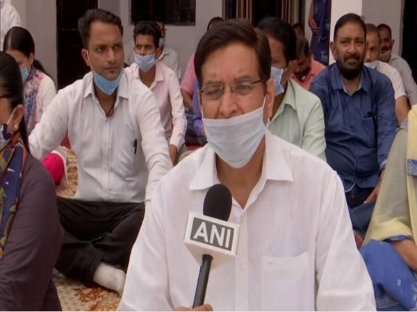 Congress president Pritam Singh speaking to ANI on Monday. (Photo/ANI)