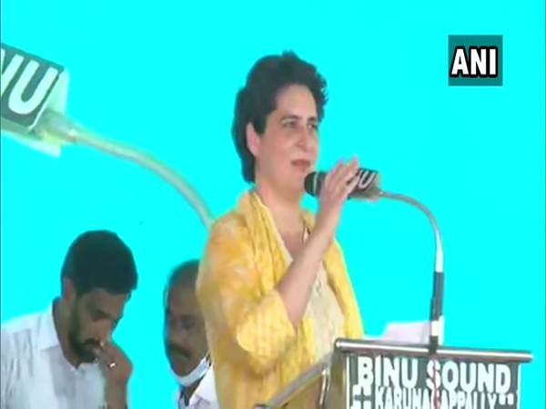 Congress leader Priyanka Gandhi Vadra in Karunagappalli, Kerala on Tuesday.