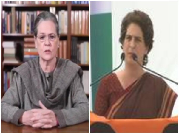 Congress interim President Sonia Gandhi and party General Secretary Priyanka Gandhi Vadra