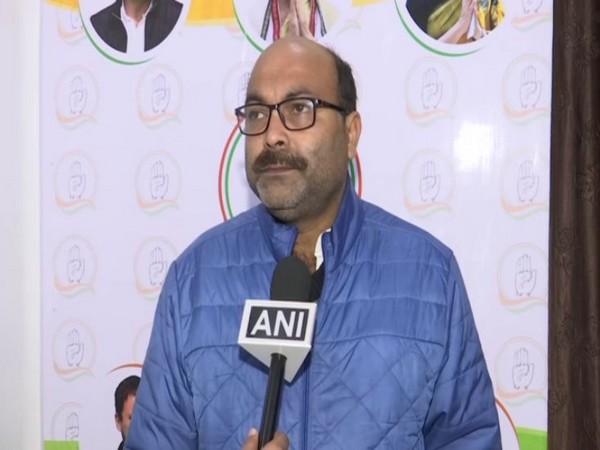 Uttar Pradesh Congress unit chief Ajay Kumar Lallu speaks to ANI in Lucknow on Sunday.    Photo/ANI