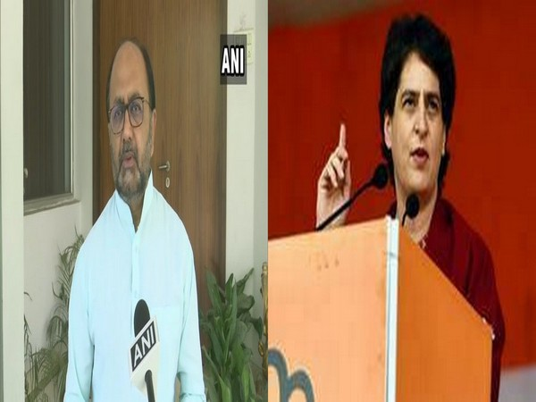 UP Minister Sidharth Nath Singh (left) and Congress leader Priyanka Gandhi Vadra (right)