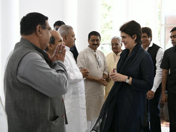 Congress General Secretary for UP-East Priyanka Gandhi Vadra arrives at party office in Lucknow on Sunday