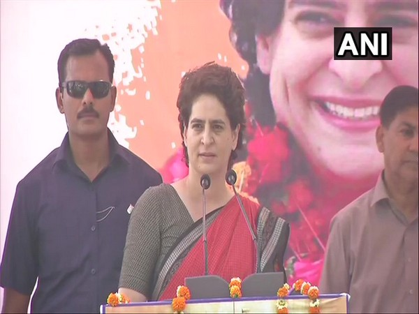 Congress general secretary and eastern UP in-charge Priyanka Gandhi Vadra on Tuesday urged people to read the Congress manifesto. Photo/ANI