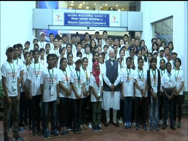 Prime Minister interacting with students at ISRO centre in Bengaluru on Saturday